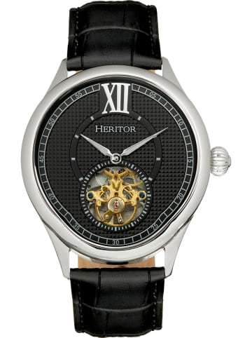 """Heritor Automatisch horloge """"Hayward"""" zwart/zilverkleurig"""