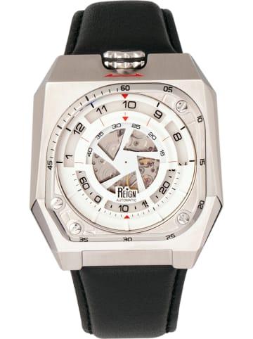 """Reign Zegarek automatyczny """"Asher"""" w kolorze czarno-srebrnym"""