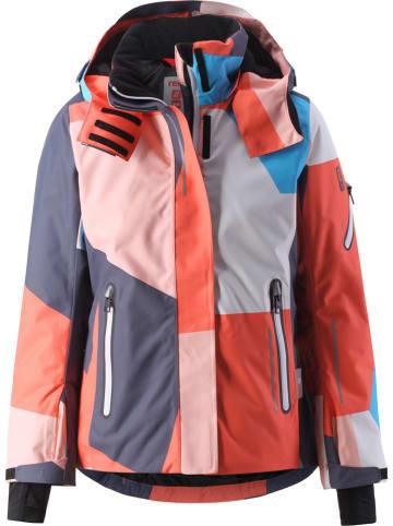 """Reima Kurtka zimowa """"Frost"""" w kolorze pomarańczowym ze wzorem"""