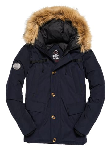 """Superdry Donsparka """"Rookie"""" donkerblauw"""