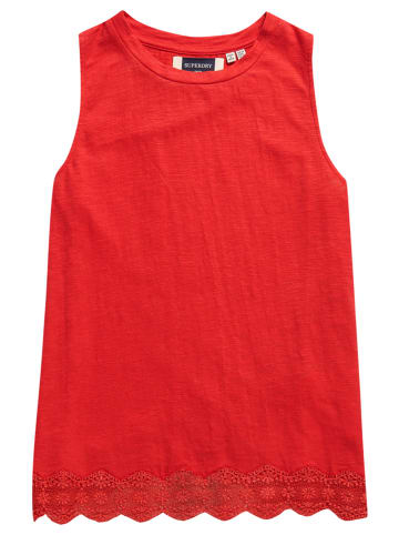 """Superdry Top """"Lace Mix"""" rood"""