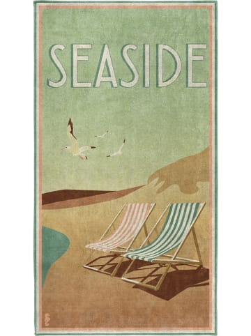 "Seahorse Strandtuch ""Seaside"" in Grün/ Bunt"