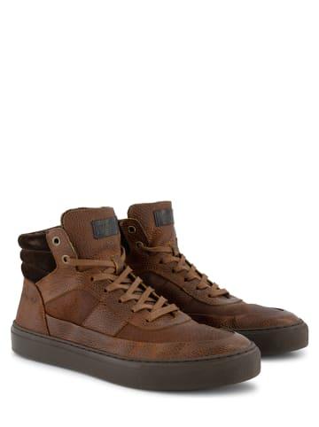 """NoGRZ Leren sneakers """"A.Rimaldi"""" cognac"""