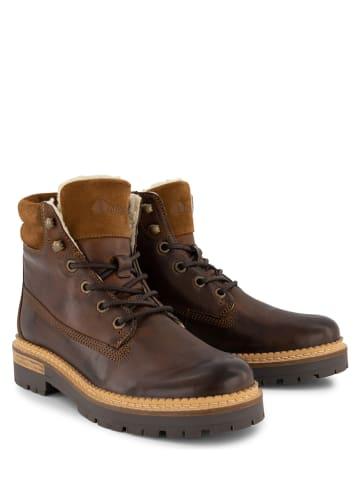 """NoGRZ Leder-Boots """"C.Ribart"""" in Cognac"""