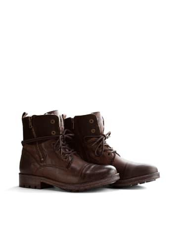 "NoGRZ Leder-Boots ""P.Post"" in Dunkelbraun"