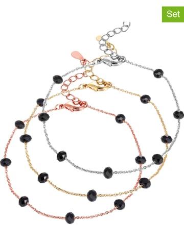 SMITHFIELD 3-delige set: armbanden met kristallen