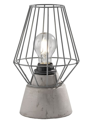 FH Lighting Tafellamp grijs - (H)27 x Ø 17 cm