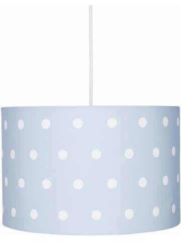 """HAPPY STYLE Hängeleuchte """"Dots"""" in Hellblau/ Weiß - Ø 30 cm"""