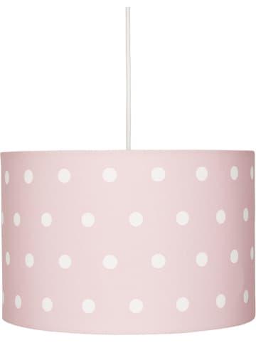 "Kids love rugs Hanglamp ""Dots"" lichtroze/wit - Ø 30 cm"