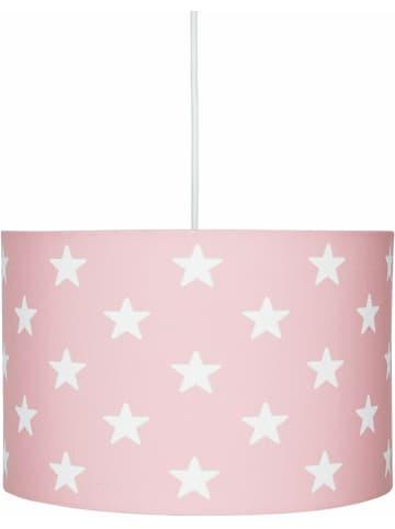 "Kids love rugs Hanglamp ""Stars"" lichtroze/wit - Ø 30 cm"
