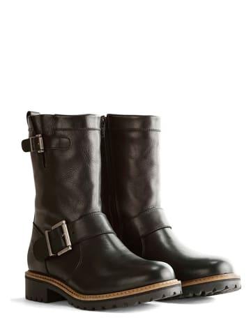 "TRAVELIN' Leren boots ""Silkeborg"" zwart"