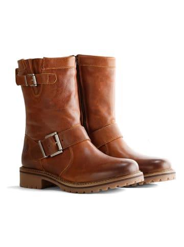 """TRAVELIN' Leren boots """"Silkeborg"""" lichtbruin"""