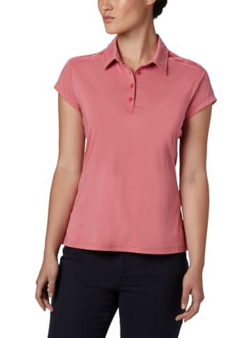 """Columbia Funkcyjna koszulka polo """"Peak to Point II"""" w kolorze różowym"""