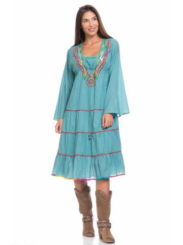 Peace & Love Jurk turquoise