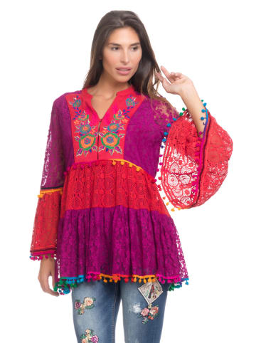 Peace & Love Tunika w kolorze fioletowo-czerwonym