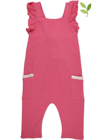 Lilly and Sid Overall in Pink/ Weiß