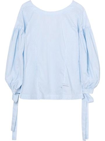 Gant Blouse lichtblauw/wit