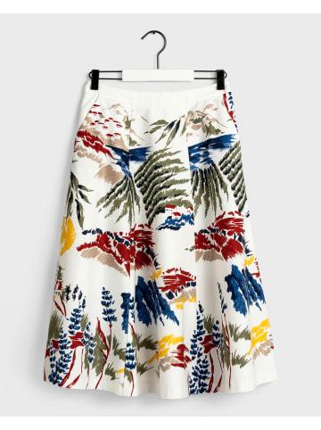 Gant Spódnica w kolorze białym ze wzorem
