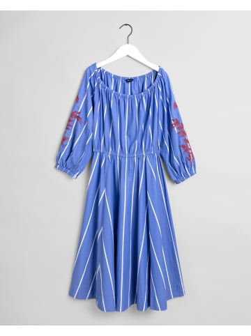 Gant Kleid in Blau/ Weiß