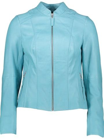 KRISS Leren jas lichtblauw