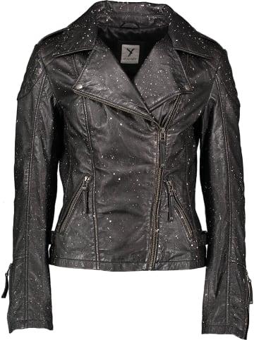 SURI FREY Leren jas zwart