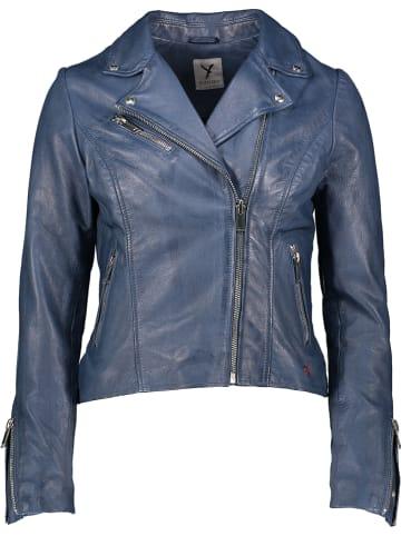 SURI FREY Leren jas blauw
