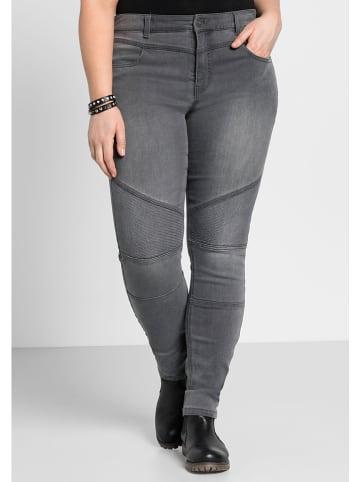 Sheego Spijkerbroek - skinny fit - grijs