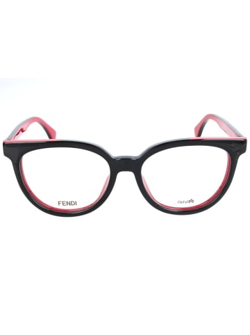 Fendi Lesebrille in Schwarz-Pink