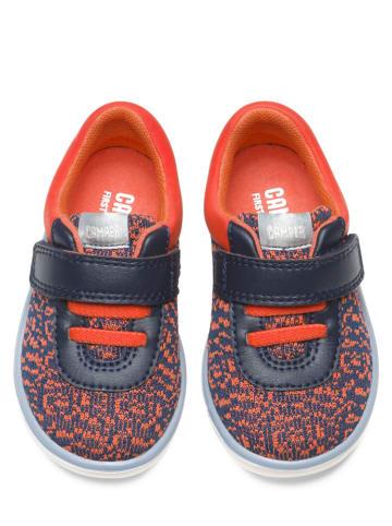 "Camper Sneakers ""Knit"" oranje/donkerblauw"