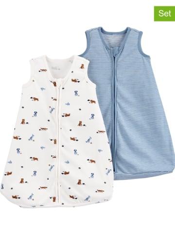 Carter's 2-delige set: babyslaapzakken wit/blauw