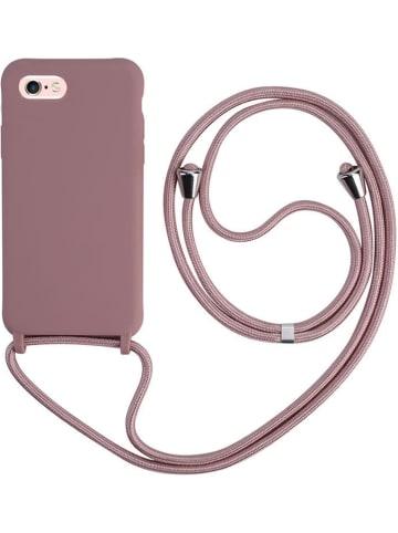 SWEET ACCESS Case w kolorze szaroróżowym do iPhone 6/6S z łańcuszkiem