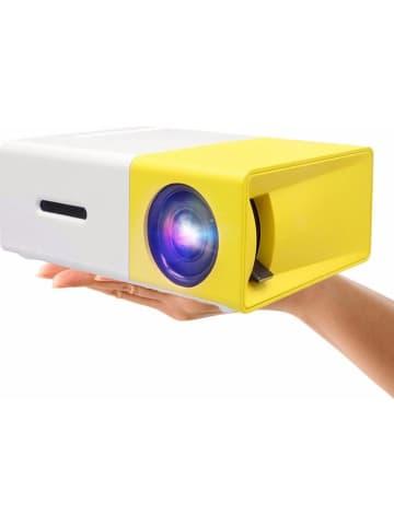SWEET ACCESS Mini-projektor w kolorze biało-żółtym