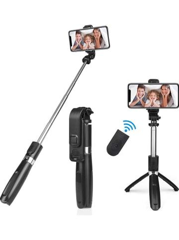 WHIPEARL Selfie-Stick 2w1 w kolorze czarnym