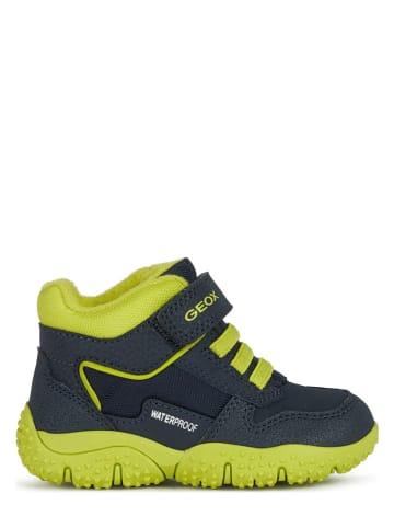 """Geox Sneakers """"Baltic"""" in Dunkelblau/ Gelb"""