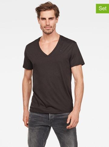 G-Star Koszulki (2 szt.) w kolorze czarnym
