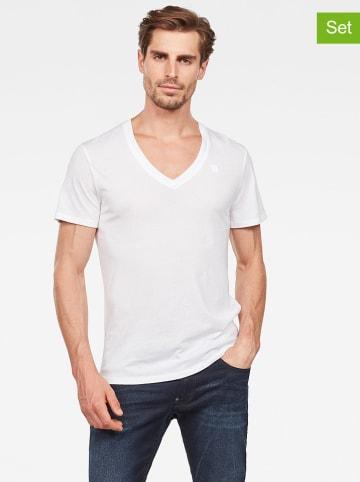 G-Star Koszulki (2 szt.) w kolorze białym