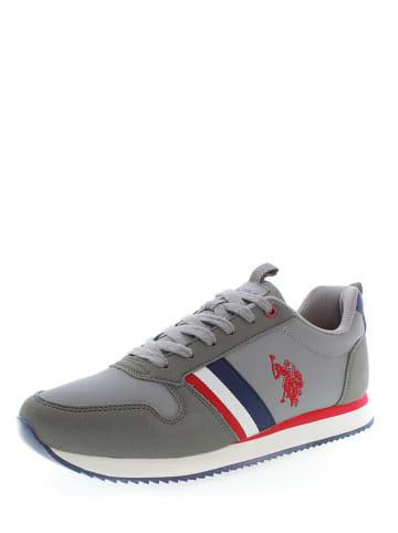 "U.S. Polo Assn. Leder-Sneakers ""Nobi 1"" in Grau"