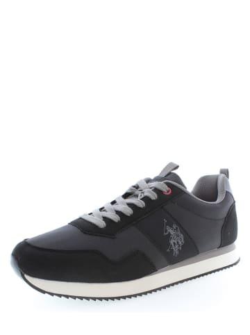 """U.S. Polo Assn. Leder-Sneakers """"Exte 1"""" in Schwarz"""