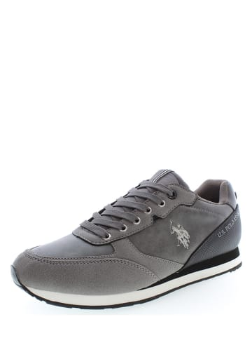 "U.S. Polo Assn. Leder-Sneakers ""Bryson 1"" in Grau"