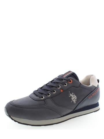 """U.S. Polo Assn. Leder-Sneakers """"Bryson 1"""" in Dunkelblau"""