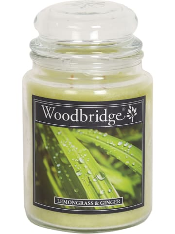 "Woodbridge Duftkerze ""Lemongrass & Ginger"" in Grün - 565 g"