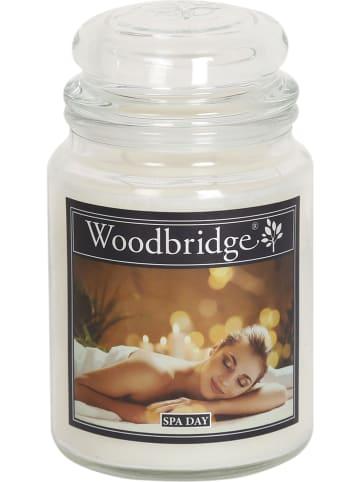 """Woodbridge Świeca zapachowa """"Spa Day"""" w kolorze białym - 565 g"""
