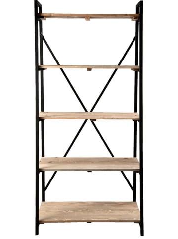 Clayre & Eef Regał w kolorze brązowo-czarnym - 90 x 191 x 47 cm