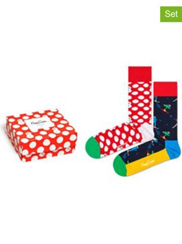 """Happy Socks 3-częściowy zestaw prezentowy """"Christmas"""" ze wzorem"""