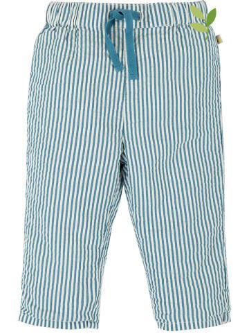 """Frugi Spodnie """"Marnie"""" w kolorze niebiesko-białym"""