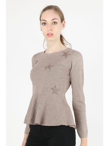 """Anna Ellis Pullover """"Poly"""" in Taupe"""
