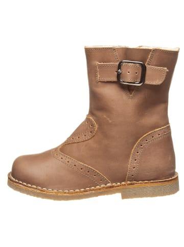 Kmins Leder-Boots in Braun