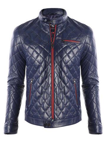 GIORGIO DI MARE Leren jas donkerblauw