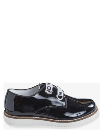 Vertbaudet Skórzane sneakersy w kolorze czarnym