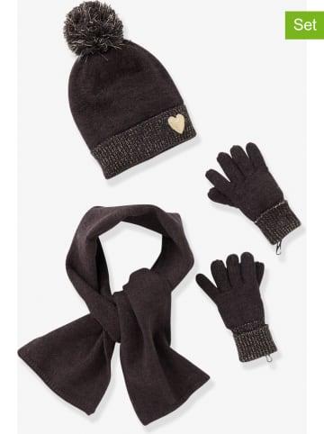 Vertbaudet 3-delige set: sjaal, muts en handschoenen zwart